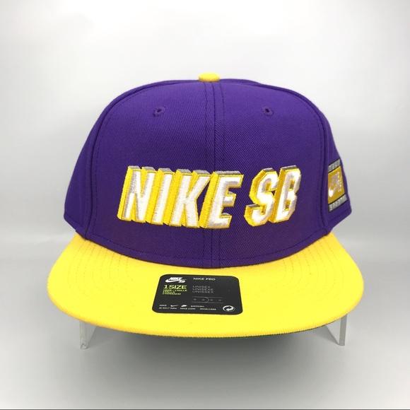 Nike Other - NIKE SB X NBA ICON Snapback Cap - LA Laker Colors